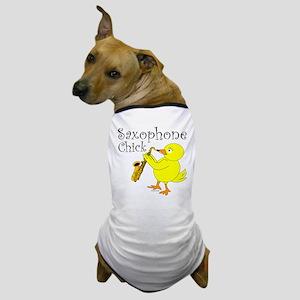 Saxophone Chick Dog T-Shirt