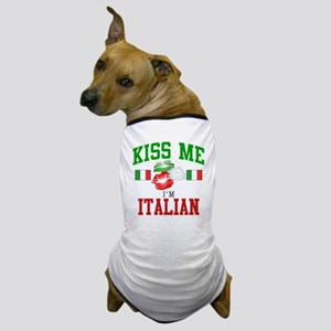 Kiss Me I'm Italian Dog T-Shirt