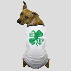 St Patricks Day 3/17 Shamrock Dog T-Shirt