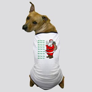 Add Your Own Text Santa Dog T-Shirt