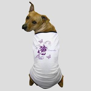Purple Butterflies and Vines Dog T-Shirt