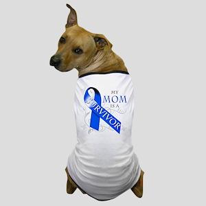 My Mom is a Survivor (blue) Dog T-Shirt