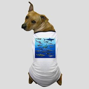 Shark Gathering Dog T-Shirt