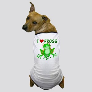 I Love (Heart) Frogs Dog T-Shirt