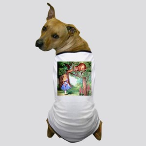 Alice and the Cheshire Cat Dog T-Shirt