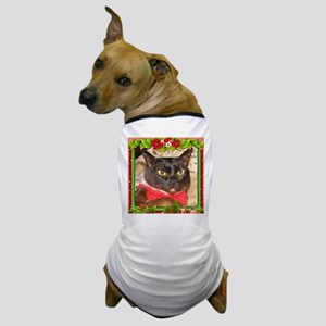 Sable Burmese Xmas, frame 7 Dog T-Shirt