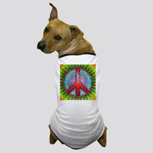 Abstract Peace Sign Dog T-Shirt