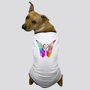 Angel Wings Heart Dog T-Shirt