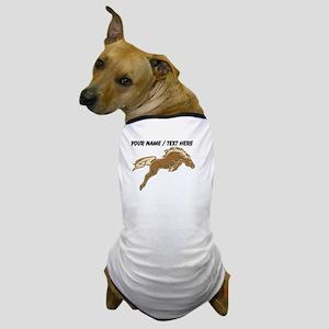 Custom Jumping Horse Dog T-Shirt