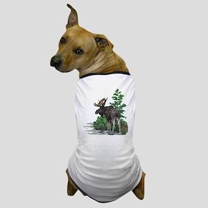 Bull moose art Dog T-Shirt