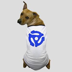 Blue Distressed 45 RPM Adapter Dog T-Shirt
