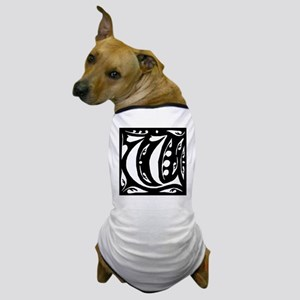 Art Nouveau Initial V Dog T-Shirt