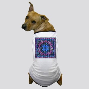Purple Quilt Dog T-Shirt