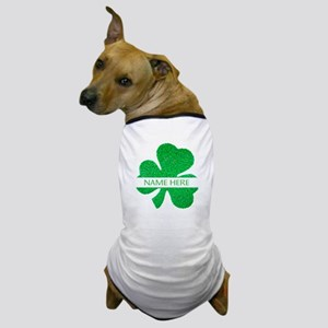 Custom Name Shamrock Dog T-Shirt