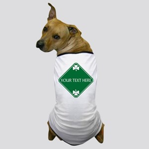 St Patricks Day Border CUSTOM TEXT Dog T-Shirt
