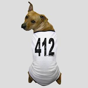 Distressed Pittsburgh 412 Dog T-Shirt
