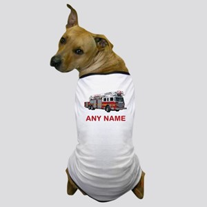 FIRETRUCK with Any Name or Text Dog T-Shirt