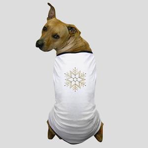 Gold and Silver Snowflake Dog T-Shirt