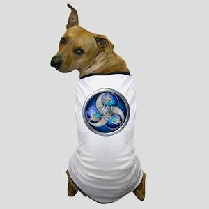 Blue Norse Triple Dragons Dog T-Shirt