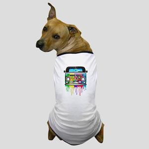 Hippie Van Dripping Rainbow Paint Dog T-Shirt