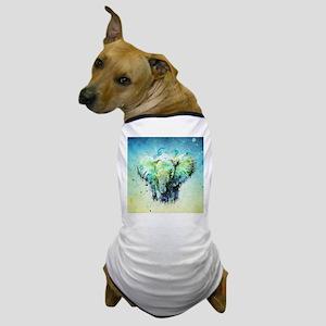 watercolor elephant Dog T-Shirt