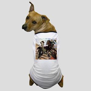 Equestrian Wild West Cowboys Dog T-Shirt