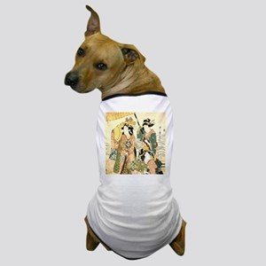 Princess and Maids Ukiyoe Dog T-Shirt