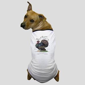 modern vintage fall turkey Dog T-Shirt