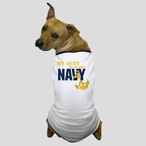 Navy Aunt Onsie Dog T-Shirt