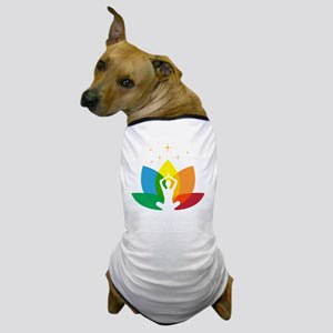 Lotus Flower and Yoga Pose Dog T-Shirt