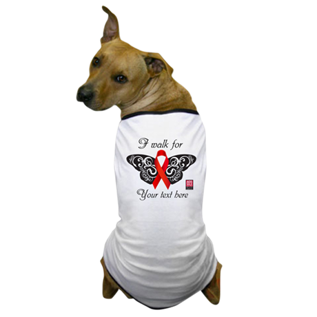 I Walk For Butterfly Dog T-Shirt