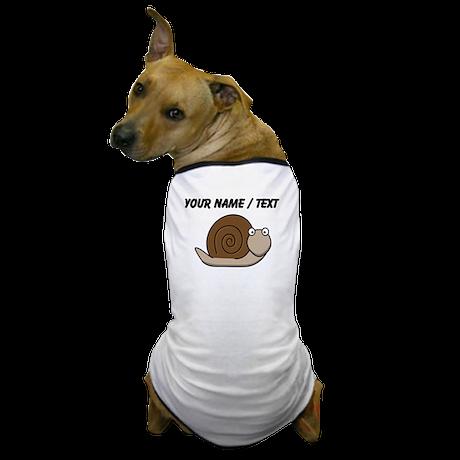 Custom Cartoon Snail Dog T-Shirt