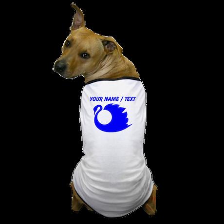 Custom Blue Swan Silhouette Dog T-Shirt