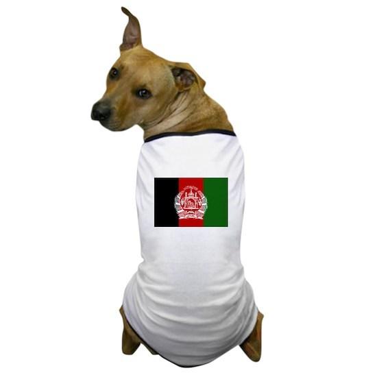 Afghanistan Flag Dog T-Shirt