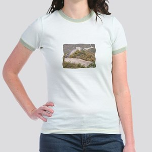 Climbed Great Wall Photo - Jr. Ringer T-Shirt