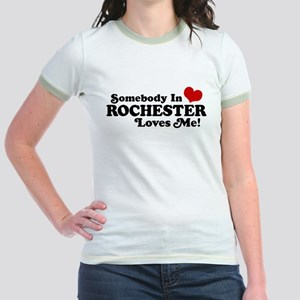 Somebody In Rochester Loves Me Jr. Ringer T-Shirt