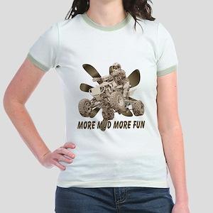 More Mud More Fun on an ATV Jr. Ringer T-Shirt