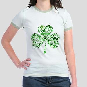 St Paddys Day Shamrock Jr. Ringer T-Shirt