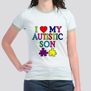 I Love My Autistic Son Tshirts Jr. Ringer T-Shirt