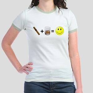 Cigar & Bourbon Jr. Ringer T-Shirt