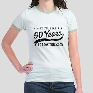 Funny 90th Birthday Jr. Ringer T-Shirt
