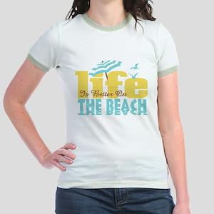Life's Better Beach Jr. Ringer T-Shirt
