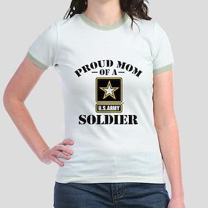 Proud U.S. Army Mom Jr. Ringer T-Shirt