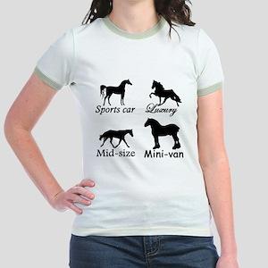 Horse Cars Jr. Ringer T-Shirt