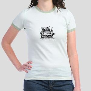 Latin Bees Proverb Jr. Ringer T-Shirt