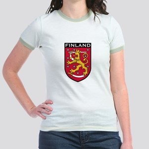 Finland Coat of Arms Jr. Ringer T-Shirt