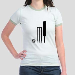 Cricket ball bat stumps Jr. Ringer T-Shirt