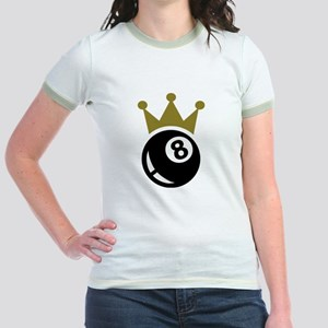 Eight ball billiards crown Jr. Ringer T-Shirt
