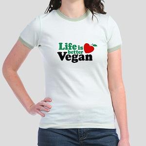 Life is Better Vegan Jr. Ringer T-Shirt