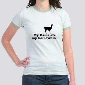 Funny Llama Jr. Ringer T-Shirt